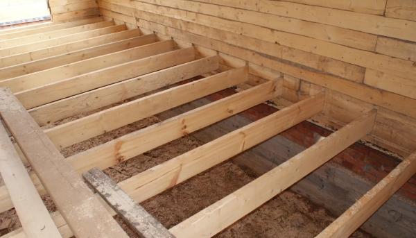 Лаги в деревянном доме
