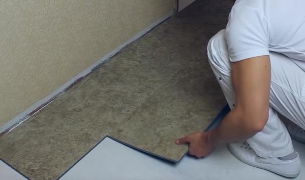 Монтаж замковой плитки